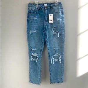 NWT Special A Distressed Ankle Crop Jeans